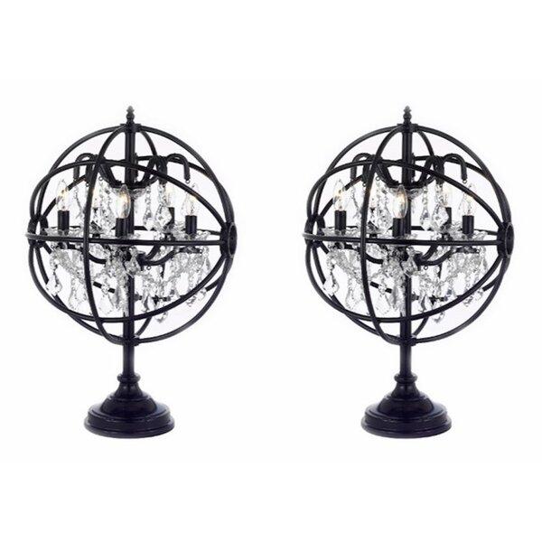 Ewan Orb Crystal Iron 25 Table Lamp by Gracie Oaks
