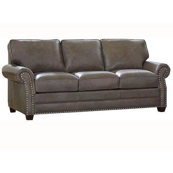 Pedigo Leather Sofa Bed by Canora Grey