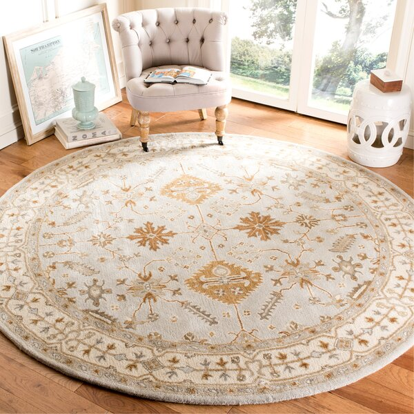 Colliers Hand-Tufted Wool Light Gray/Cream Area Rug by Astoria Grand
