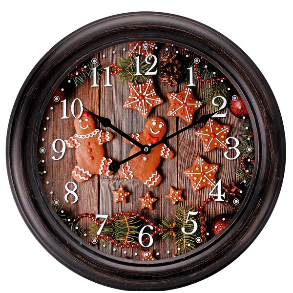 Pond Gingerbread 18 Wall Clock by The Holiday Aisle
