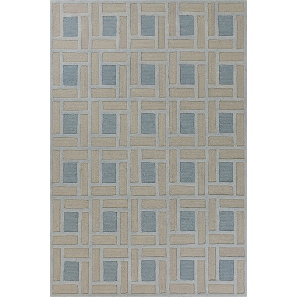Soho Brick Hand-Tufted Wool Spa/Pumice Area Rug by Libby Langdon