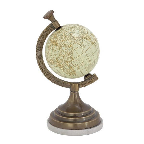 Aluminum Marble PVC Globe by Cole & Grey