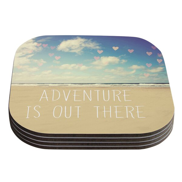 Adventure is Out There by Sylvia Cook Coaster (Set of 4) by KESS InHouse