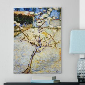 'Pear Tree in Blossom' by Vincent Van Gogh Oil Painting Print on Wrapped Canvas by Red Barrel Studio