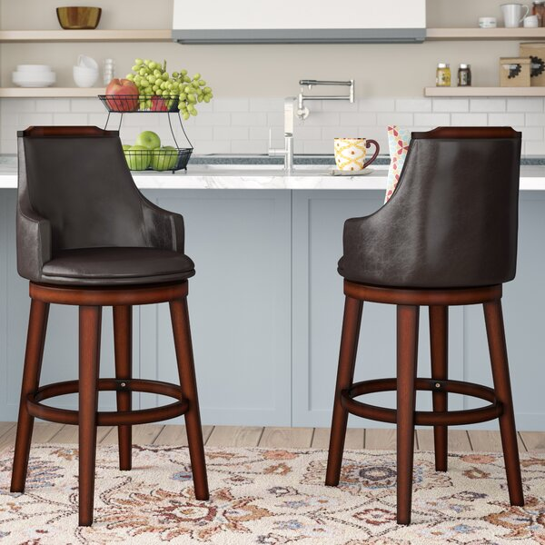 Allenville 29 Swivel Bar Stool (Set of 2) by Three Posts