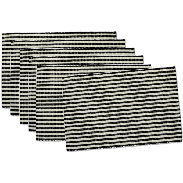 Petite Stripe 6 Piece Placemat Set (Set of 6) by Design Imports