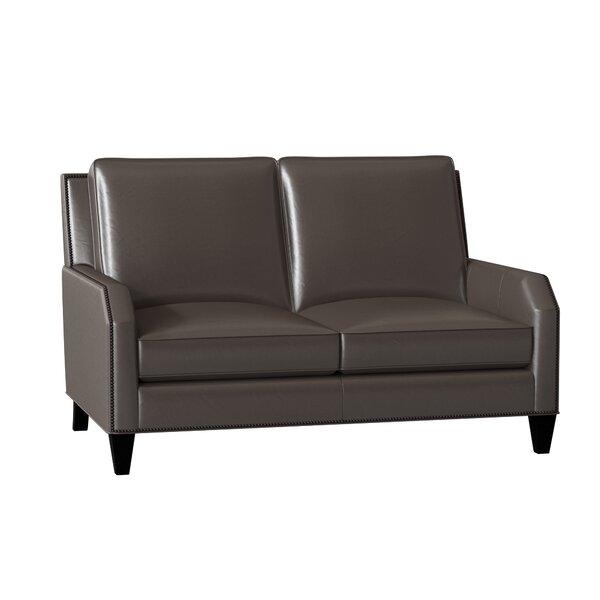 Best Price Caroline Leather Loveseat