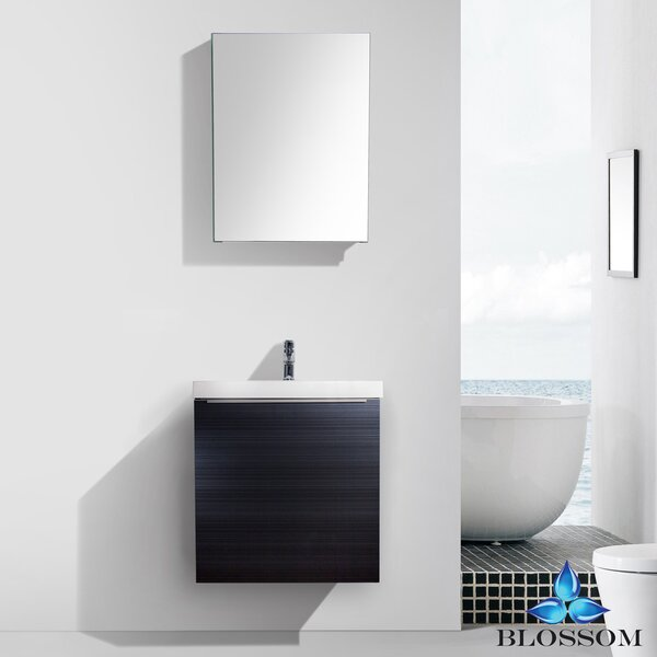 Maness 24 Single Bathroom Vanity Set with Mirror by Orren Ellis