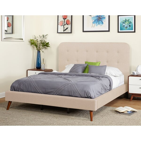 Wadley Mid Century Queen Upholstered Platform Bed by Langley Street