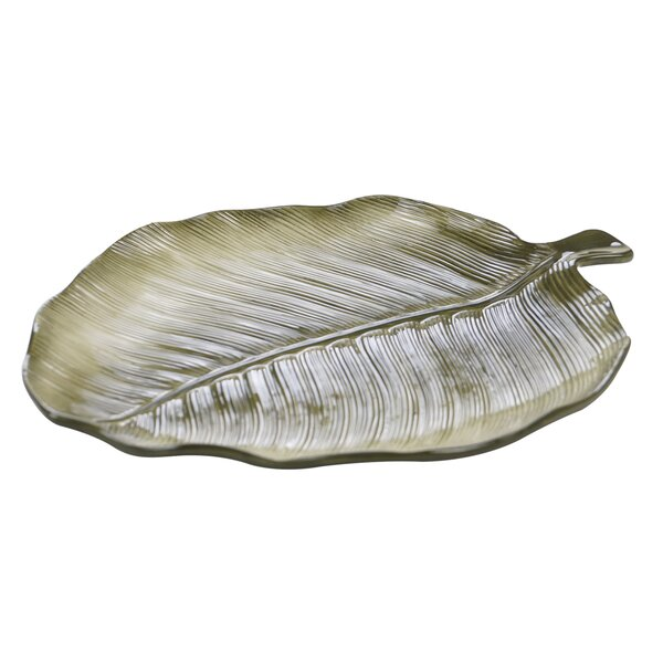 Freelon 3-D Palm Leaf Platter by Bay Isle Home