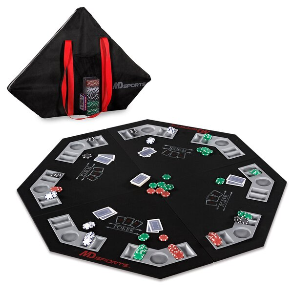 46.7 Player Conversion Poker Table Top by MD Sports