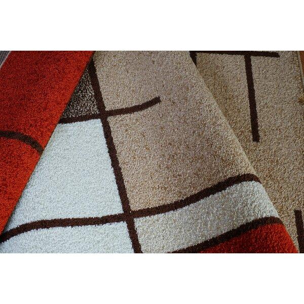 Joy Red/Brown Area Rug by La Dole Rugs