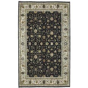 Best Reviews One-of-a-Kind Dharma Handwoven 11'8 x 18'8 Wool/Silk Black/Gray Area Rug ByBokara Rug Co., Inc.
