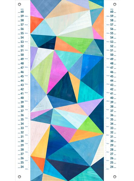 Dee Abstract Summer Canvas Growth Chart by Harriet Bee
