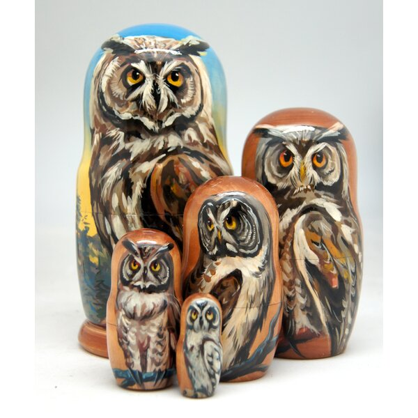 Vanderhoof Owl 5 Piece Nested Doll Set by Millwood Pines