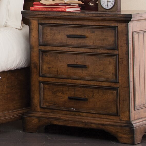 Canup 3 Drawer Nightstand by Charlton Home
