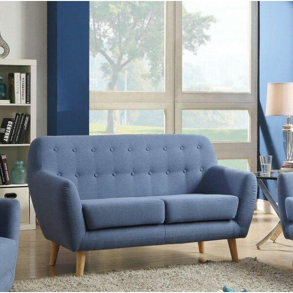 Loveseat, Blue Linen By Latitude Run