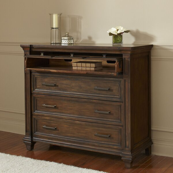 Bartlette 3 Drawer Media Chest by Darby Home Co