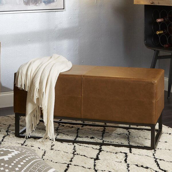 Selph Faux Leather Bench by Williston Forge