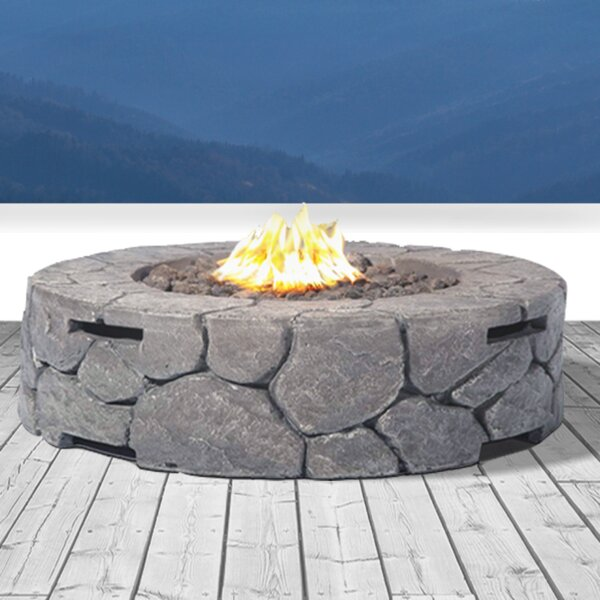 Coronado Concrete Propane Fire Pit by Living Source International