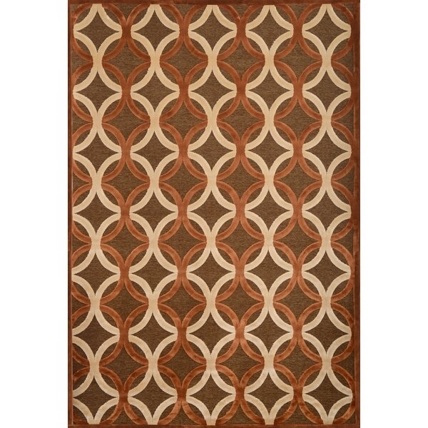 Coronado Chocolate/Ivory Geometric Area Rug by Corrigan Studio