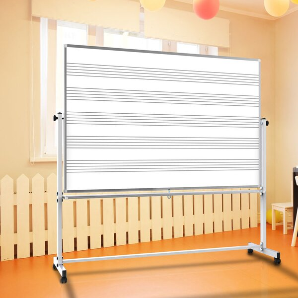 Mobile Music Free Standing Whiteboard, 48 x 72 by Offex