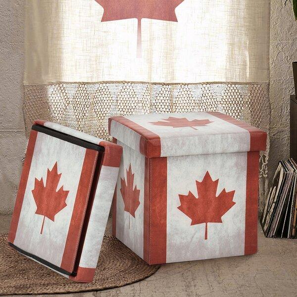 Canada Flag Storage Ottoman by Hazelwood Home
