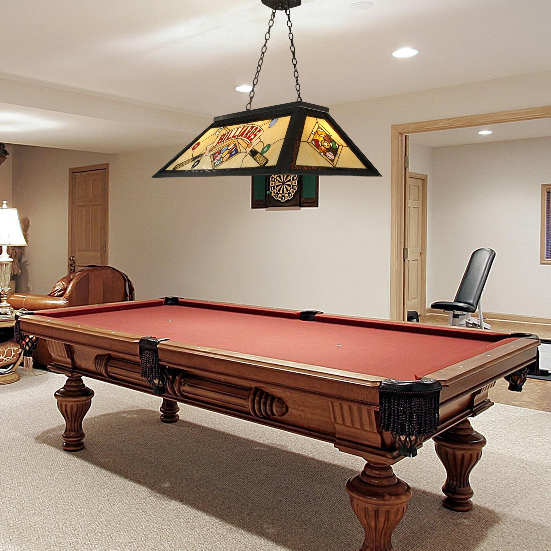 Qspl billards 4 light pool table light wayfair