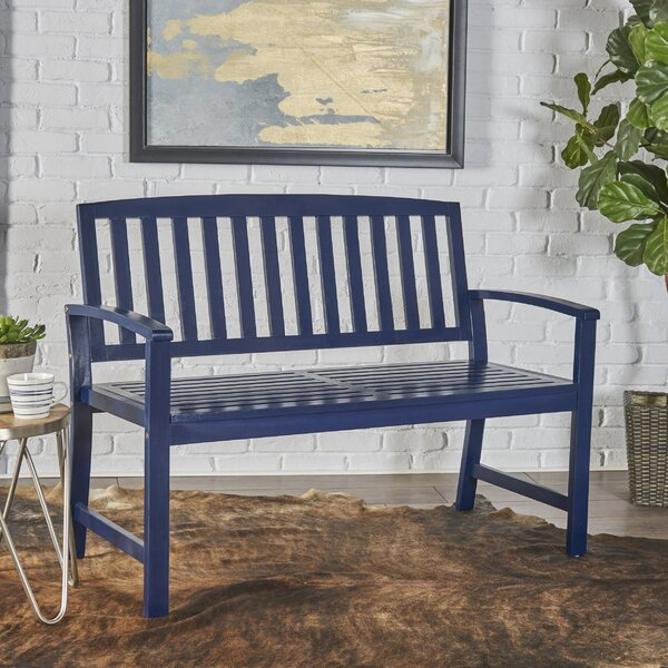 Palm City Wood Bench by Breakwater Bay