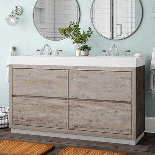 Savings Malakai 59  Double Sink Bathroom Vanity ByWade Logan
