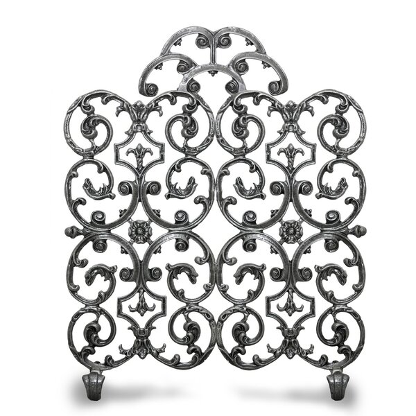 Avalon 2 Panel Iron Fireplace Screen By Ornamental Designs