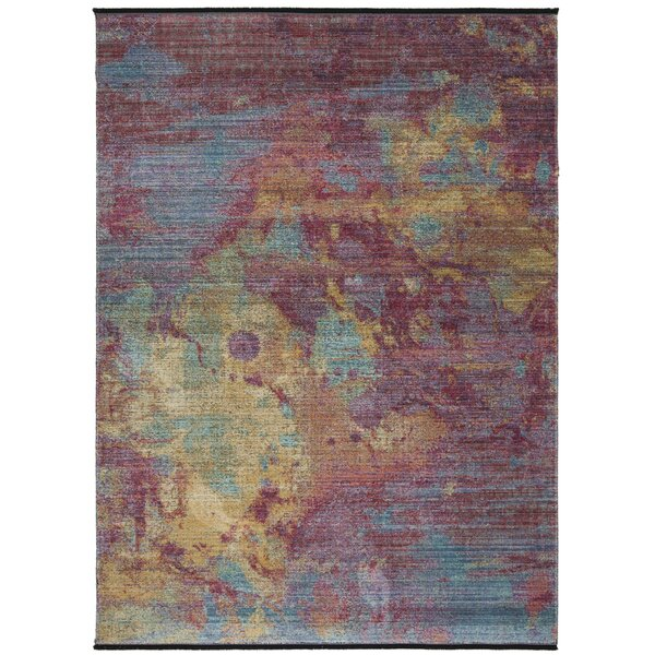 Chauncey Cotton Fuchsia/Turquoise Area Rug by Bungalow Rose