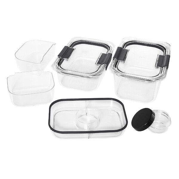 Brilliance Salad and Snack Lunch 6 Container Food Storage Set by Rubbermaid