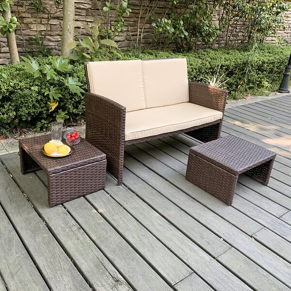Rand 3 Piece Seating Group with Cushions by Latitude Run Latitude Run