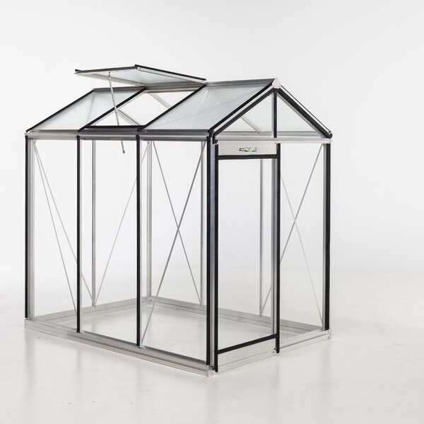 Piccolo Glass 7.5 Ft. x 5.5 Ft. Hobby Greenhouse by ACD Greenhouses