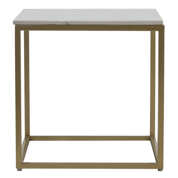 Mcelveen Marble Top Frame End Table By Ivy Bronx