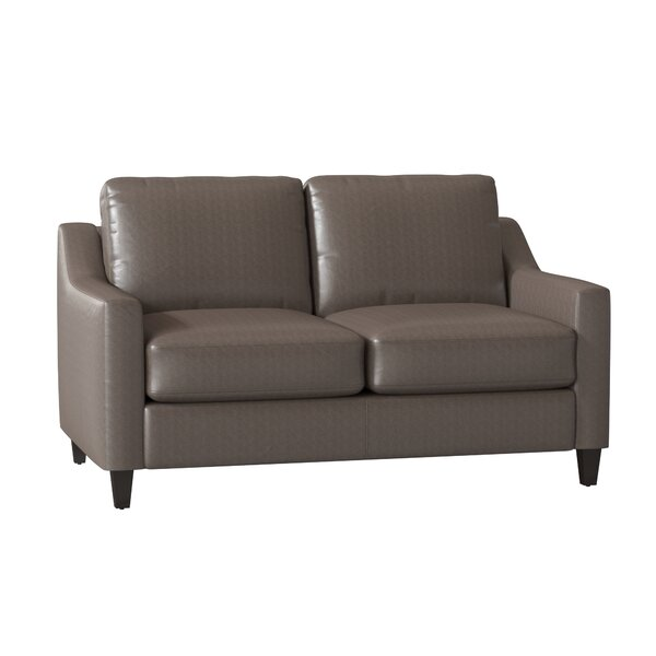 Jesper Leather Loveseat by Wayfair Custom Upholstery Wayfair Custom Upholstery™