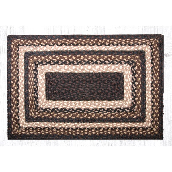 Mocha/Frappuccino Braided Area Rug by Earth Rugs