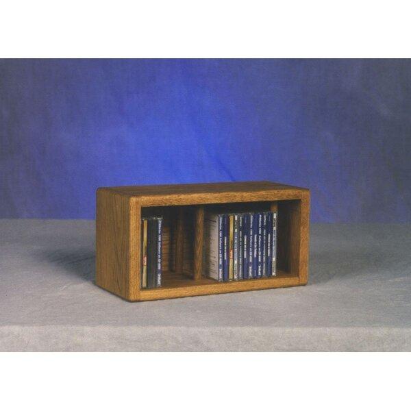 100 Series 28 CD Multimedia Tabletop Storage Rack by Wood Shed