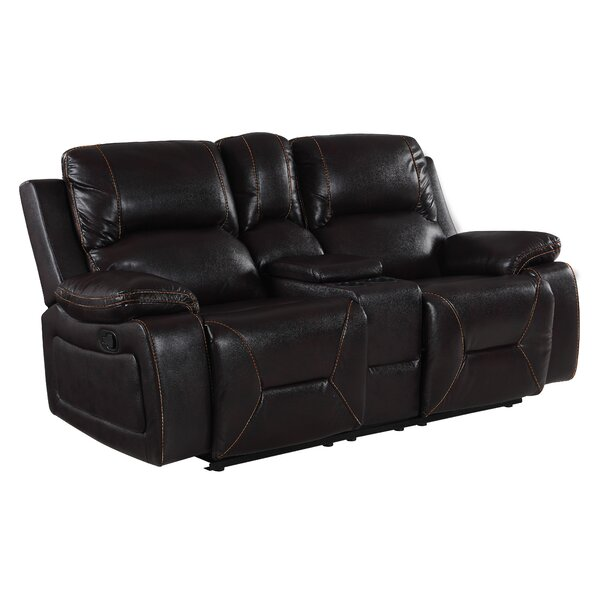 Ullery Living Room Console Reclining Loveseat by Winston Porter