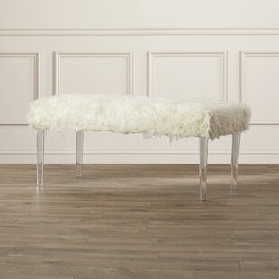 Buy luxury Spellman Faux Flokati Bench By Willa Arlo Interiors