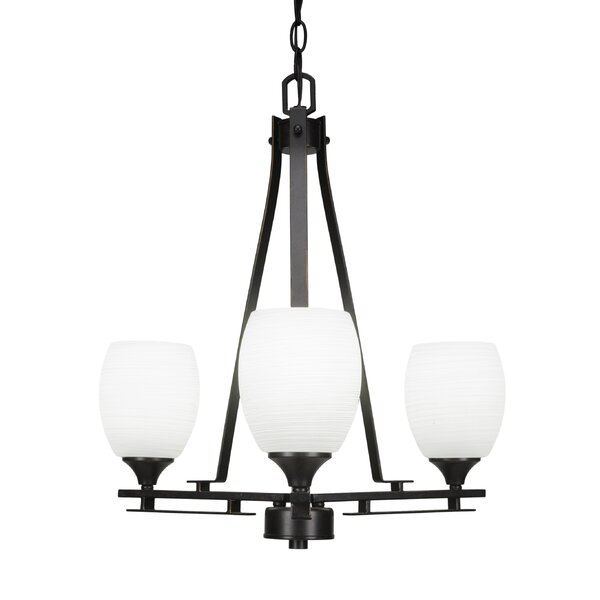 Murdoch 3 - Light Shaded Classic / Traditional Chandelier by Ebern Designs Ebern Designs