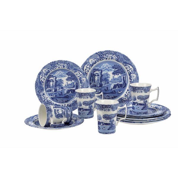 Blue Italian 12 Piece Dinnerware Set, Service for 4 by Spode
