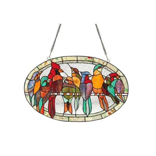 Tiffany Glass Oval Window Panel by Bay Isle Home
