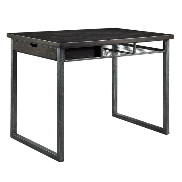Tyson Rustic Counter Height Solid Wood Dining Table by 17 Stories 17 Stories