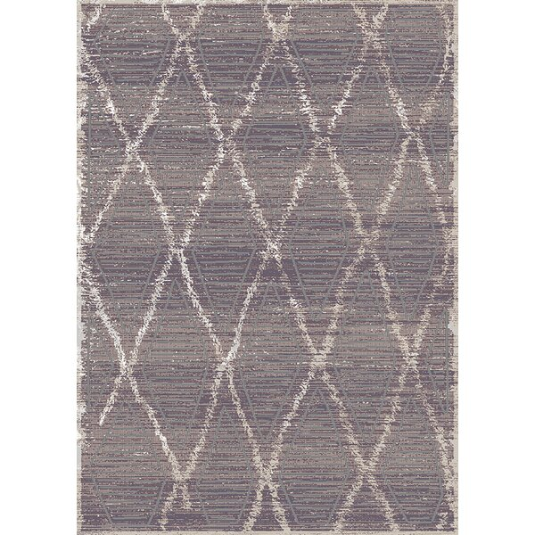 Carrizales Trellis Moroccan Modern Taupe/Ivory Area Rug by Wrought Studio