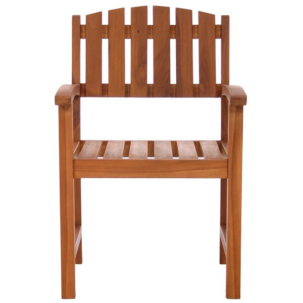 Humphrey Teak Patio Dining Chair by Longshore Tides