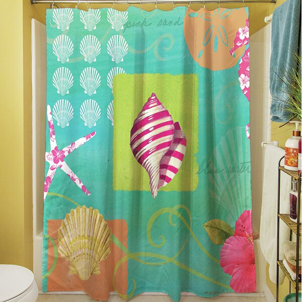 Tropical Beach Shower Curtain by Manual Woodworkers & Weavers