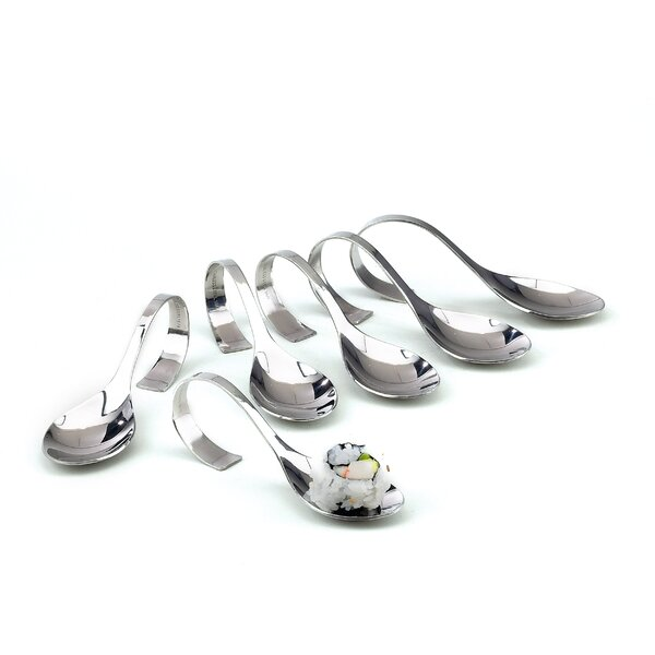 Mayer Amuse Bouche Spoon (Set of 6) by Charlton Home