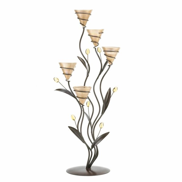 Lilies Stand Metal Candelabra by Zingz & Thingz